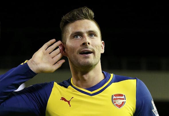 Olivier Giroud has been outstanding for Arsenal away from home this season