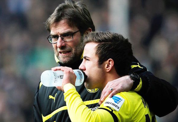 Mario Gotze has admitted he could rejoin Jurgen Klopp by moving to Liverpool