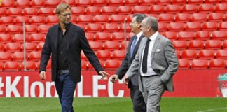 Jurgen Klopp is unveiled as Liverpool manager alongside Ian Ayre and Tom Werner