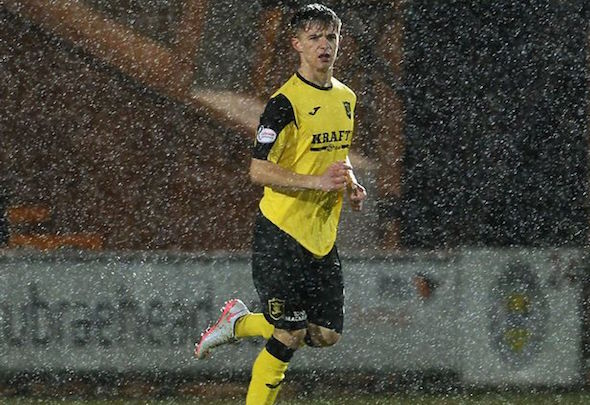 Matthew Knox making his debut for Livingston against St. Mirren on Boxing Day