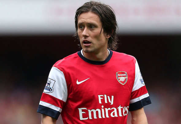 Tomas Rosicky suffered an injury on his long-awaited Arsenal comeback