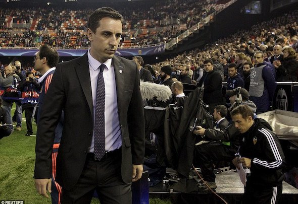 Gary Neville's position as Valencia manager is under threat