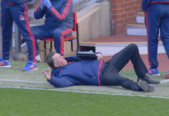 Louis van Gaal mocked Alexis Sanchez with a theatrical dive during the Manchester United win over Arsenal