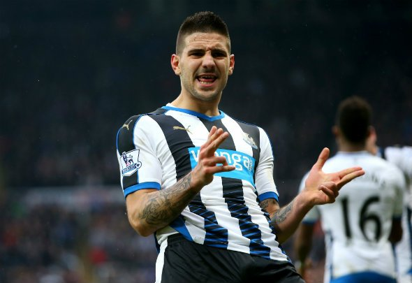 Alex the great: Mitrovic scored a late equaliser in the derby