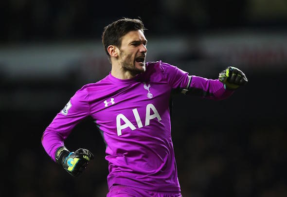 Hugo Lloris celebrates as Tottenham keep their title bid on track