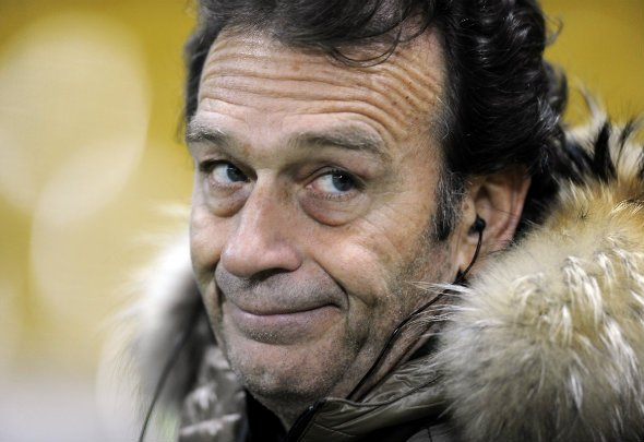 Axe man: Cellino hinted that Evans' reign will soon be over