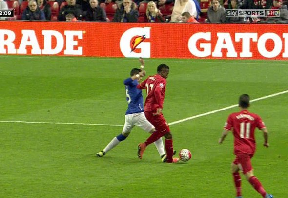 Ramiro Funes Mori was sent off for a horror tackle on Divock Origi