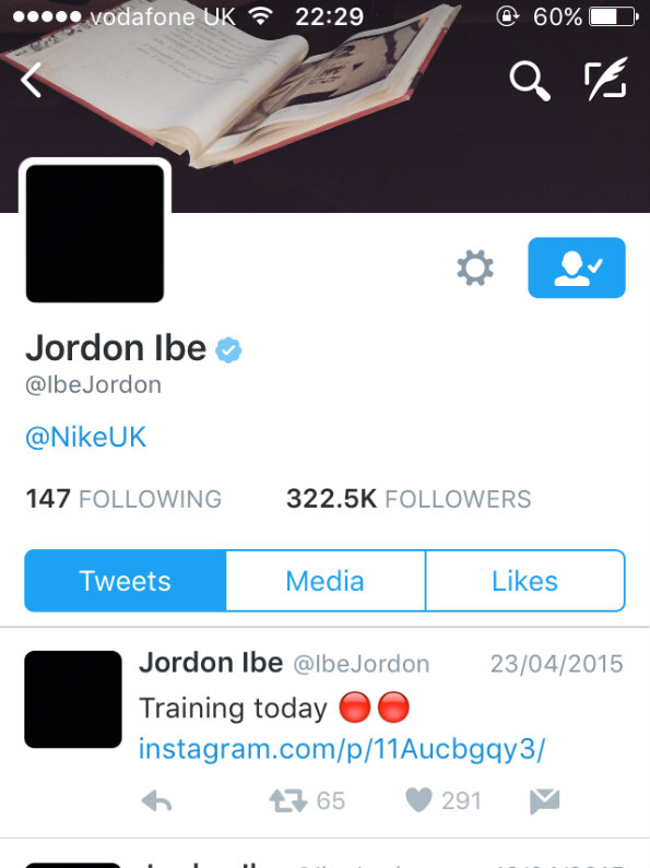 Jordan Ibe Instagram