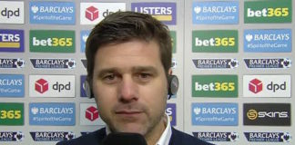 Mauricio Pochettio was embarrassed after thumping turf against Stoke