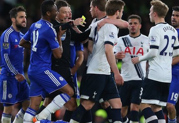 Cesc Fabregas was at the heart of the discord between Tottenham and Chelsea at Stamford Bridge