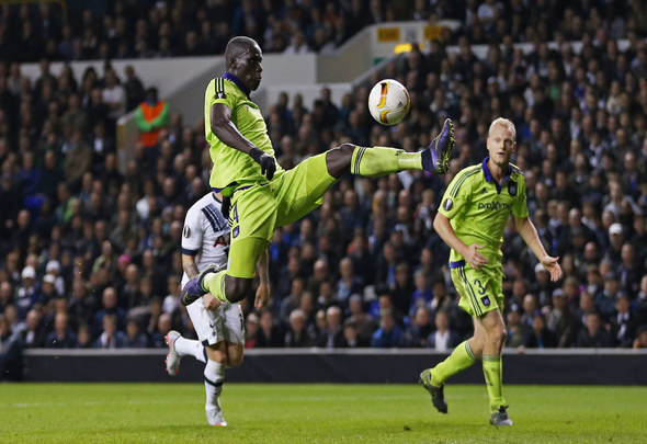 Football - Tottenham Hotspur v RSC Anderlecht - UEFA Europa League Group Stage - Group J - White Hart Lane, London, England - 5/11/15 Anderlecht's Kara Mbodji Action Images via Reuters / Matthew Childs Livepic EDITORIAL USE ONLY.