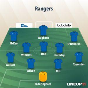 Rangers Line up