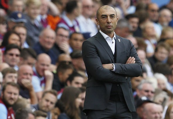 Britain Soccer Football - Aston Villa v Nottingham Forest - Sky Bet Championship - Villa Park - 11/9/16 Aston Villa manager Roberto Di Matteo  Mandatory Credit: Action Images / Craig Brough Livepic EDITORIAL USE ONLY.