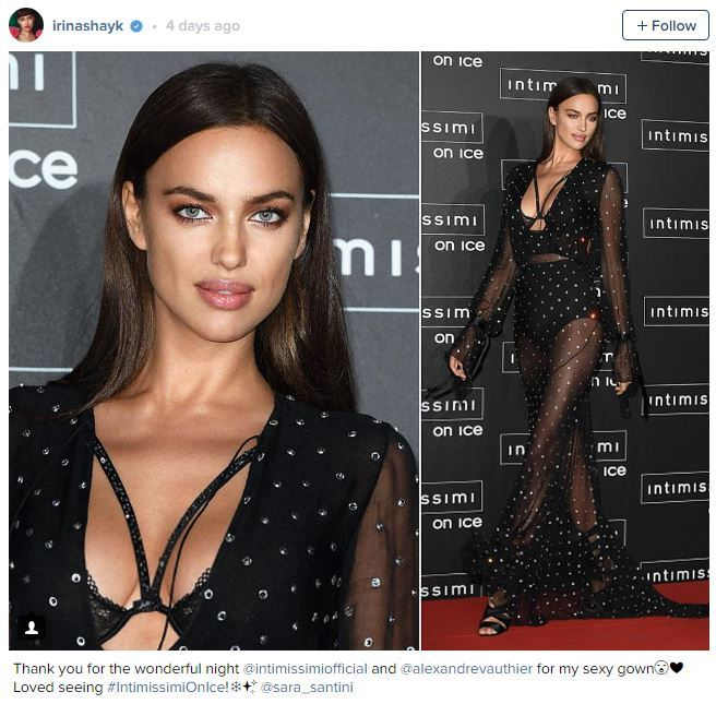 The second Irina Shayk Instagram Picture liked by Ronaldo