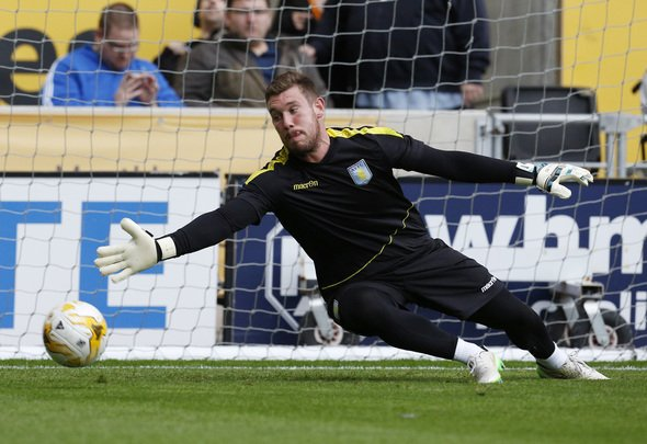Football - Wolverhampton Wanderers v Aston Villa - Pre Season Friendly - Molineux - 15/16 - 28/7/15 Aston Villa's Jed Steer during the warm up Mandatory Credit: Action Images / Craig Brough  EDITORIAL USE ONLY.