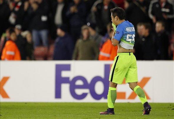 Nagatomo reacts to horror own goal v Southampton