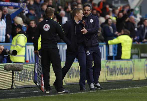 Leeds and Huddersfield managers sent off in freaky touchline scuffle