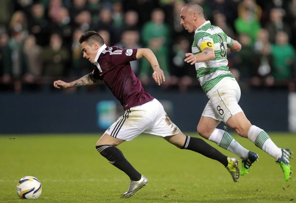 Jamie Walker moves away from his marker for his Scottish club Heart of Midlothian