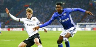 Baba Rahman of Chelsea during a loan spell at Schalke 04