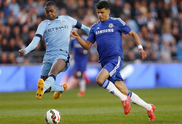 Dominic Solanke during his time at Chelsea
