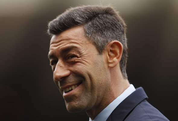 Rangers manager Pedro Caixinha looks on