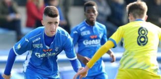 Arnel Jakupovic looks to make a pass for his Italian club Empoli