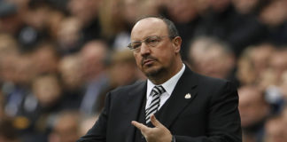 Newcastle manager Rafael Benitez looks on from the touchline