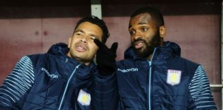 Darren Bent sits on the bench during his time at Aston Villa