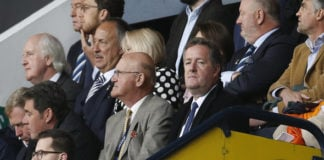 Arsenal fan Piers Morgan in the stands