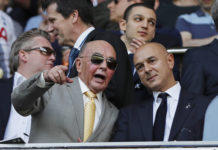 Tottenham owner Joe Lewis and chairman Daniel Levy