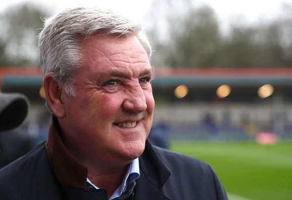 Newcastle United manager Steve Bruce smiles