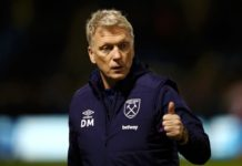West Ham boss David Moyes gives the thumbs up