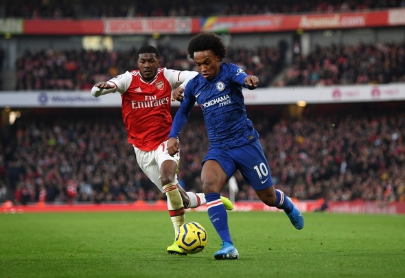 Chelsea attacker Willian dazzles against Arsenal